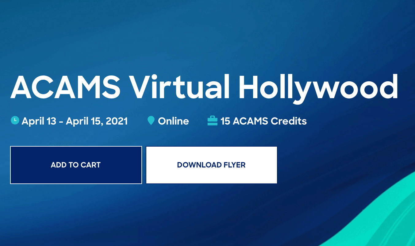 ACAMS Hollywood Virtual Conference 2021