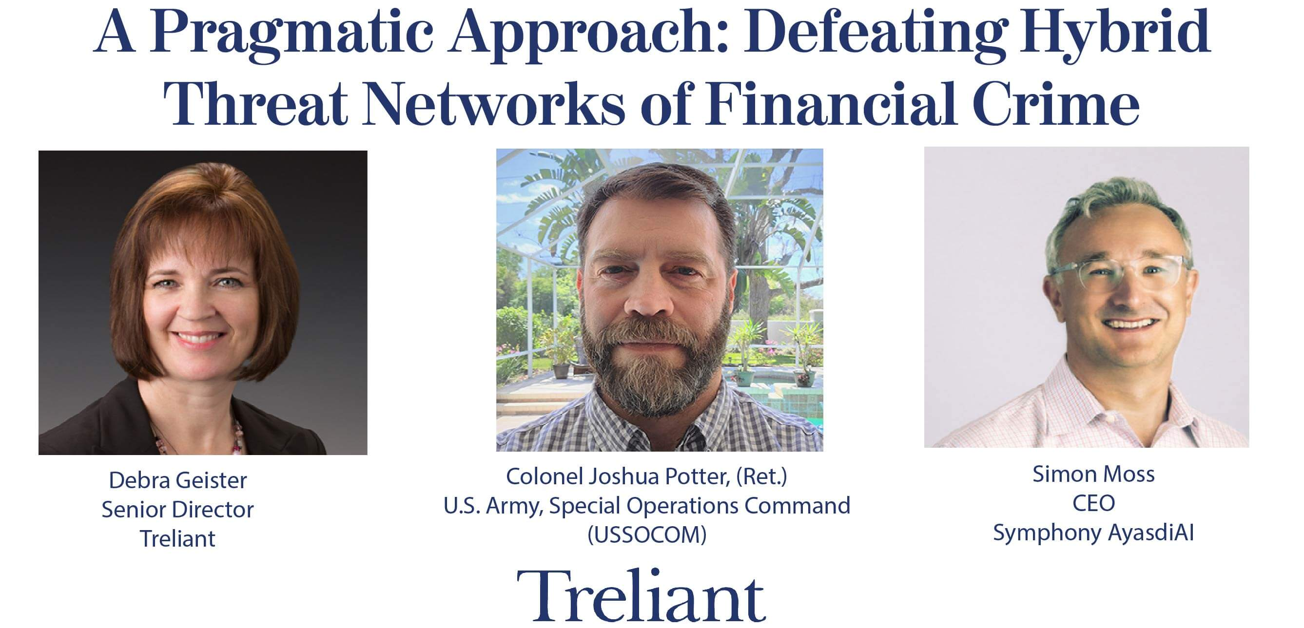 Symphony AyasdiAI to Participate in Treliant Webinar on Defeating  Hybrid Threat Networks